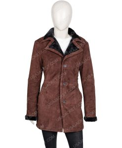 Yellowstone Monica Dutton Suede leather Coat