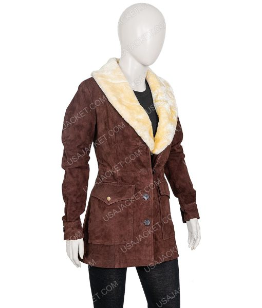 Yellowstone S02 Kelly Reilly Brown Coat