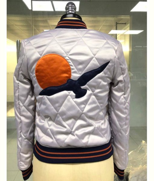 70's Silver Wings Bomber Jacket
