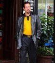 Adam Sandler Black Uncut Gems Leather Coat