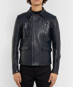 Andres V. Leonard Biker Slim-fit Jacket