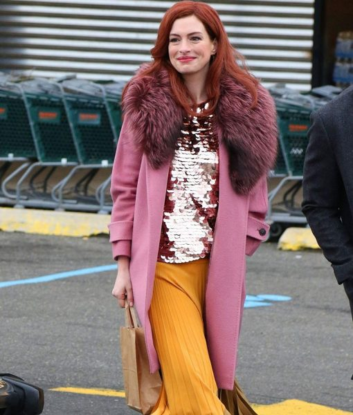 Anne Pink Fur Collar Lexi Coat