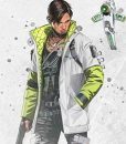 Apex Legends S03 Crypto Green And White Leather Jacket
