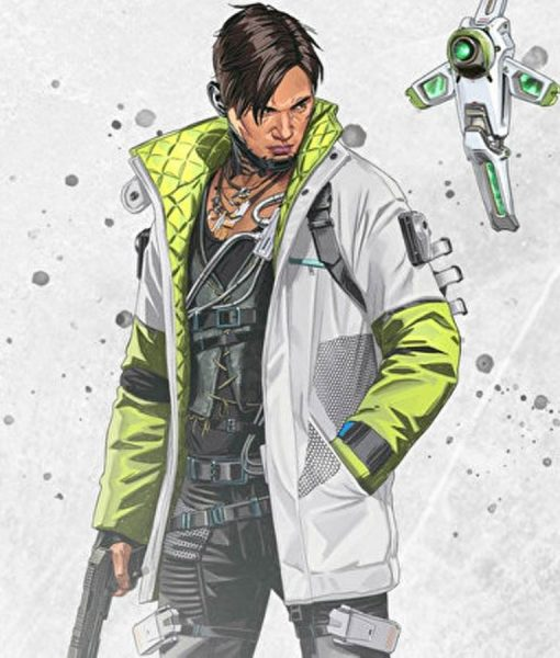 Apex Legends S03 Crypto Green And White Jacket
