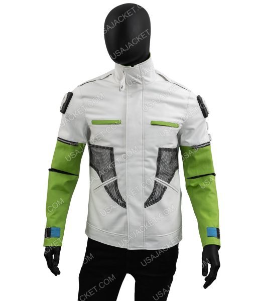 Apex Legends Season 03 Green and White Leather Jacket