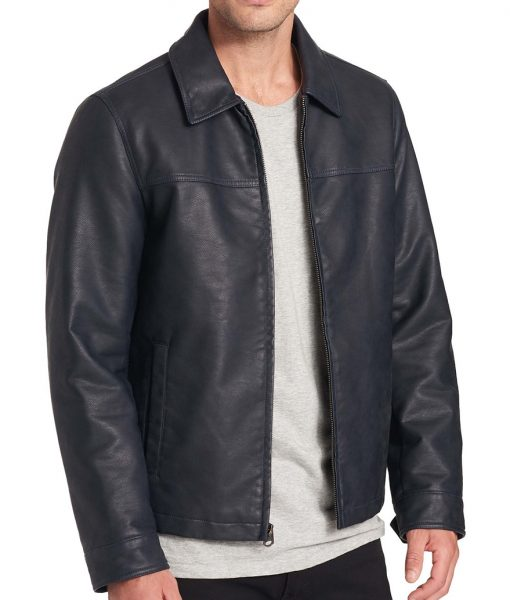 Barry Faux Leather Open-Bottom Jacket