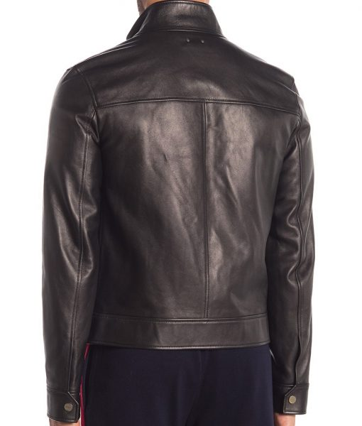 Jason Collared Leather Jacket