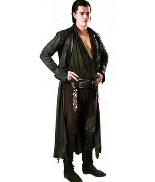 Black Leather Diaval Sam Riley Maleficent Coat