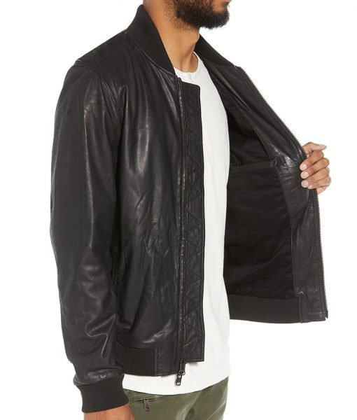Ivan Leather Bomber Jacket