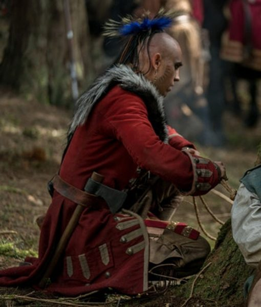 Red Kaheroton Outlander Season04 Suede Leather Coat
