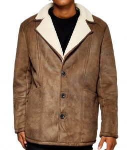 Brian Faux Shearling Brown Jacket
