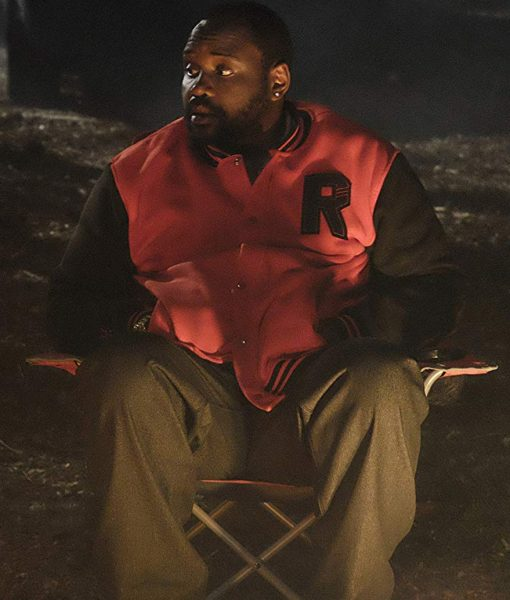 Brian Tyree Henry Atlanta Alfred Miles Red Letterman Jacket