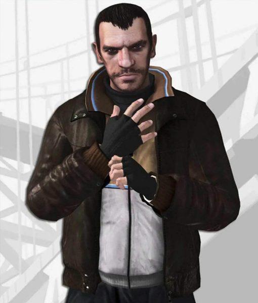 Brown Leather Niko Bellic Jacket