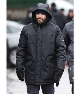 Casey Affleck Dad Black Jacket With Hood