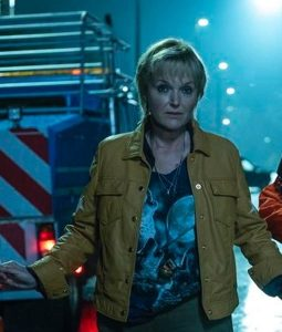Miranda Richardson Curfew Yellow Leather Jacket
