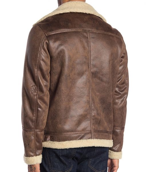 Dale Faux Fur Buckled Neck Brown Jacket
