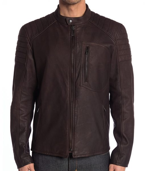 Dark Brown Richard R. Gooden Café Racer Jacket