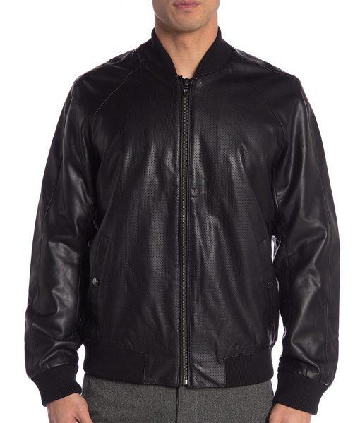 David Faux Leather black Jacket