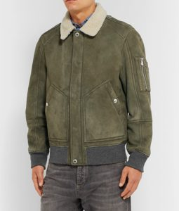 Dustin Suede Leather Bomber Jacket