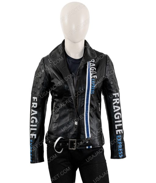 Fragile Express Black Leather Jacket