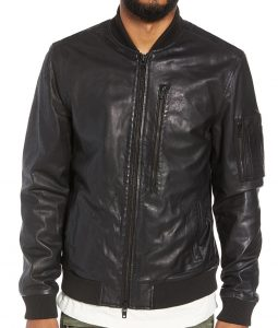 Bomber Ivan Leather Jacket