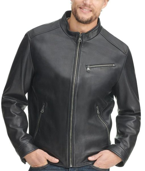 John black Jacket With Zipper Pockets