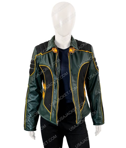 Katie Cassidy Black Canary Laurel Lance Leather Jacket