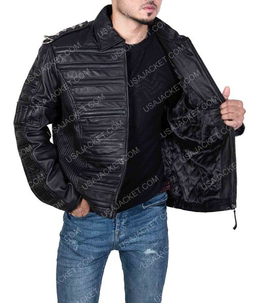 Michael Jackson Will you be There Black Leather Jacket