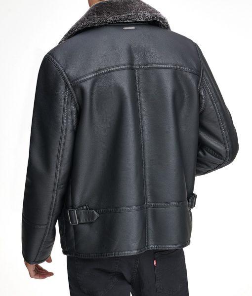 Shearling Collar Lawrence Pilot Jacket