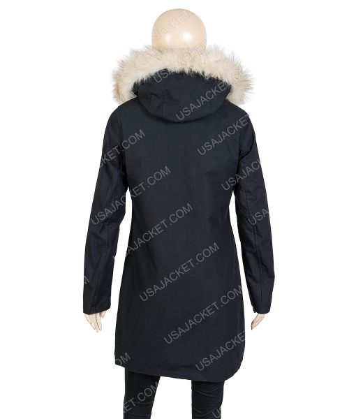 Let It Snow Moner Coat With Hood