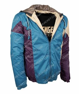 Seth Rogen Long Shot Fred Flarsky Blue Bomber Jacket