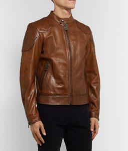 Lonnie Café Racer Brown Leather Jacket