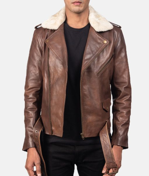 Luther Distressed Leather Moto Jacket