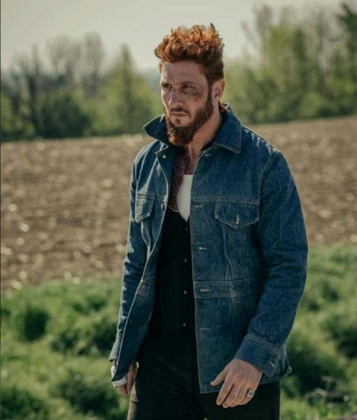 American God's Mad Sweeney Blue Jeans Jacket