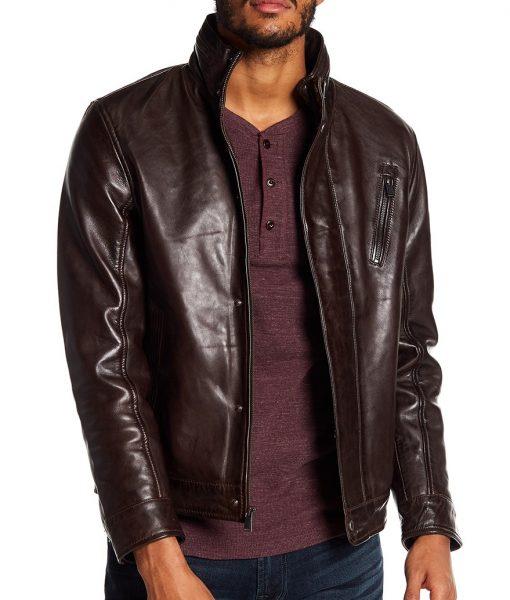 Michael Lambskin Leather Jacket