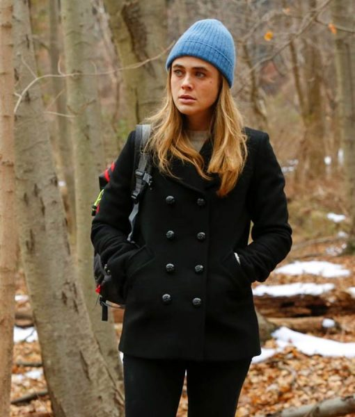 Michaela Stone Black Pea Coat