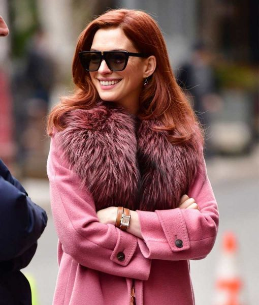 Modern Love Pink Lexi Fur Coat
