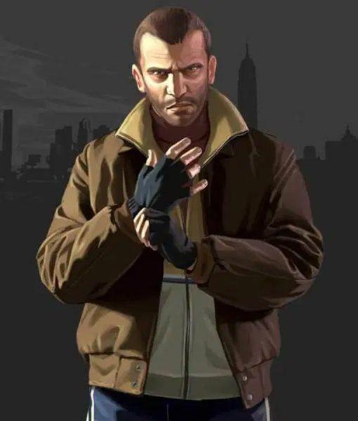 GTA IV Niko Bellic Brown Leather Jacket