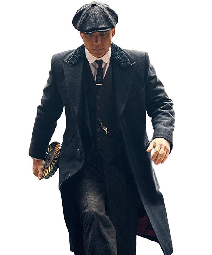 Peaky Blinders Thomas Shelby Coat | Cillian Murphy Black Coat