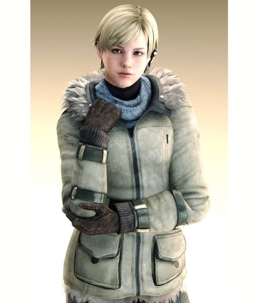 Resident Evil 6 Sherry Brikin Leather Jacket