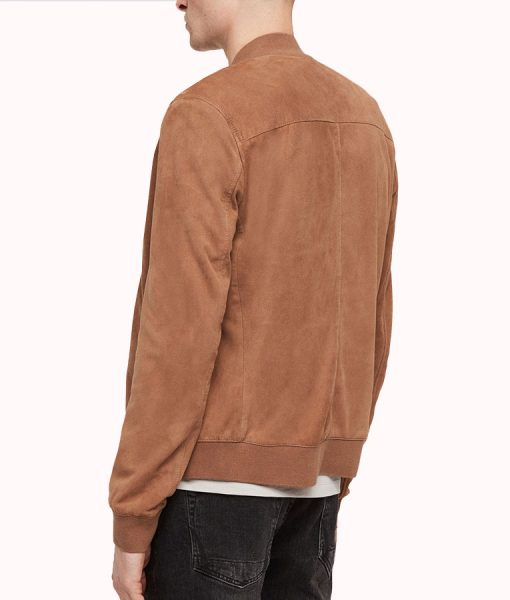 Robert Mens Brown Suede Leather Jacket