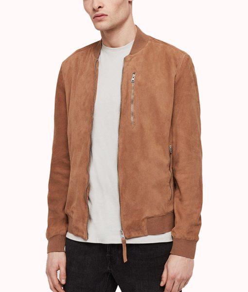 Robert Mens Soft Suede Leather Zipper Jacket