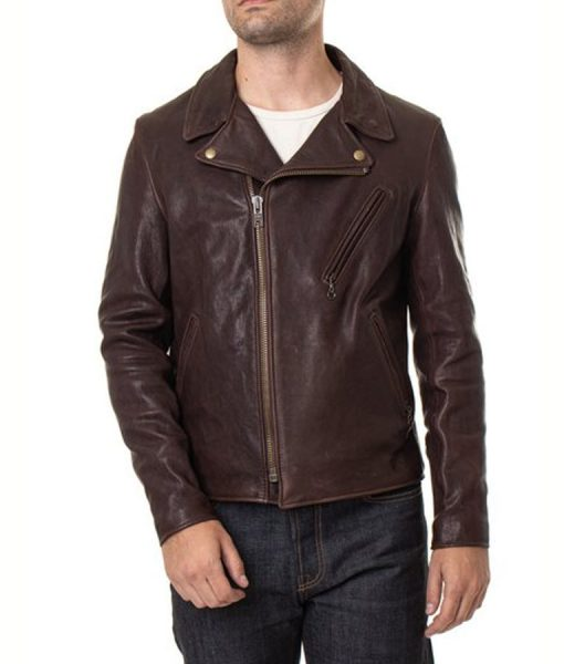 Stephen Lambskin Leather Brown Jacket