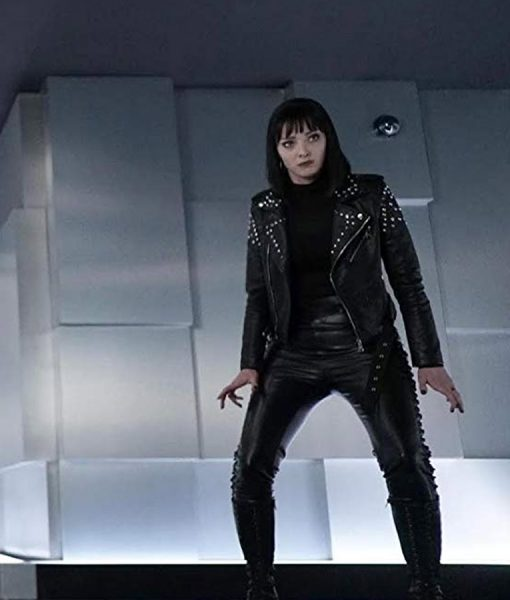 Black Leather Emma Dumont The Gifted Jacket