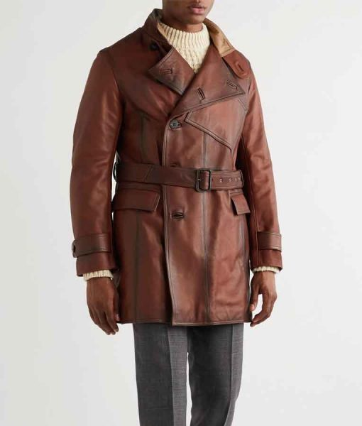 The King's Man Ralph Fiennes Brown LeatherDuke of Oxford Jacket