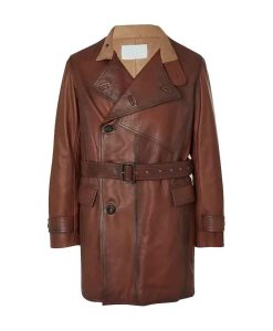 The King's Man Duke of Oxford Leather Double Breasted Jacket