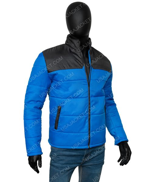 Top boy s03 Blue and Black Puffer Jacket