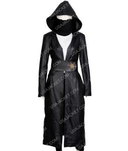Watchmen Regina King Black Long Coat With Hood
