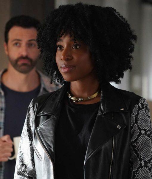 Why Women Kill Black Snake Skin Leather Jacket