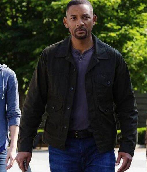 Will Smith Gemini Man Grey Jacket